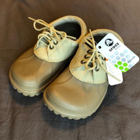 f10b65da0b CROCS Shoes   Nwt All Terrain In Khaki Cream J 3   Poshmark